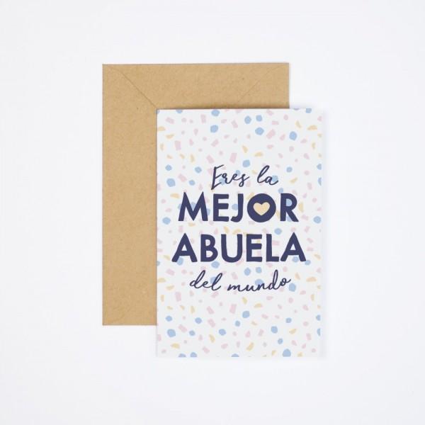 "Postal ""Mejor abuela"""