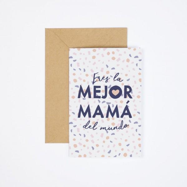 """Postal """"Mejor mamá"""""""