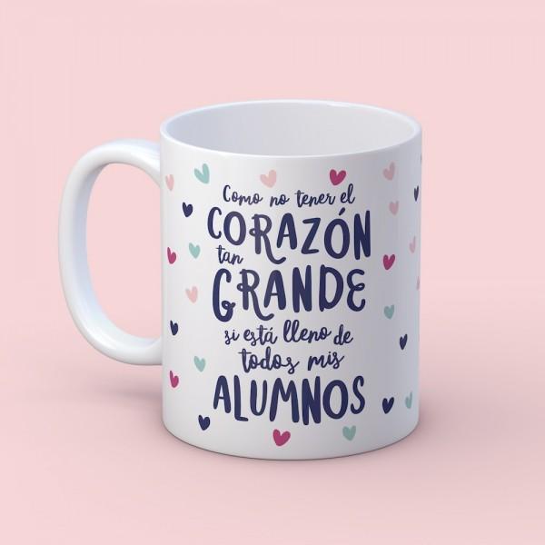 """Taza """"Corazón grande profe"""""""