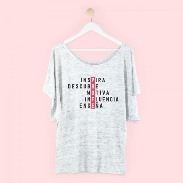 "Camiseta chica ""PROFE palabras"""