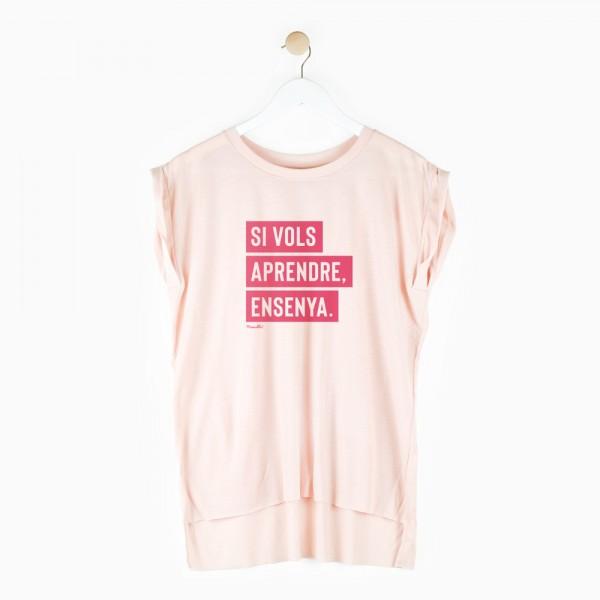 """Camiseta chica """"Si quieres aprender"""""""