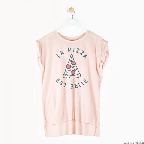 "Camiseta ""La pizza est belle"""