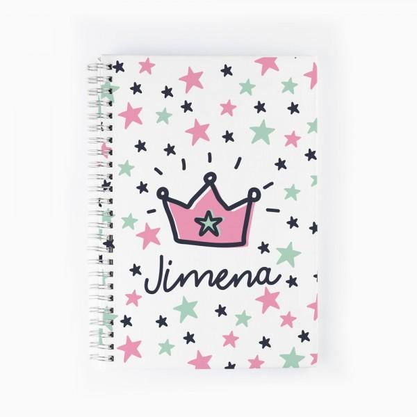 Cuaderno Corona rosa