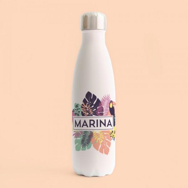 "Botella acero inox ""Tropical"""