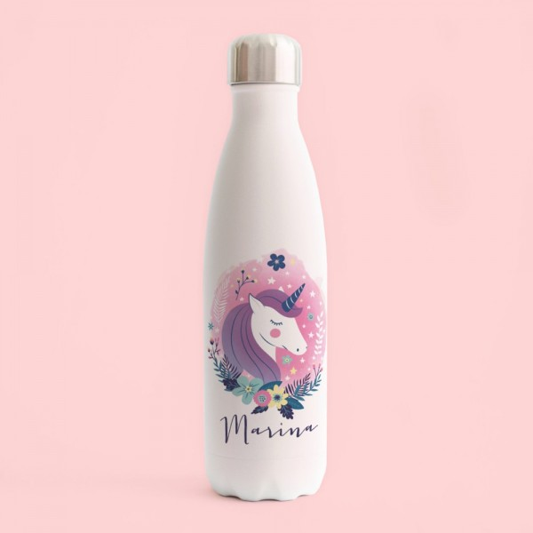 "Botella acero inox ""Unicorn"""