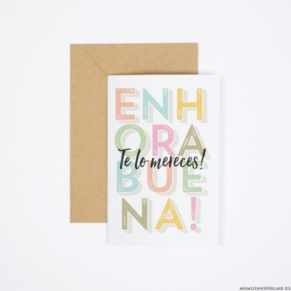 """Postal """"Enhorabuena"""""""