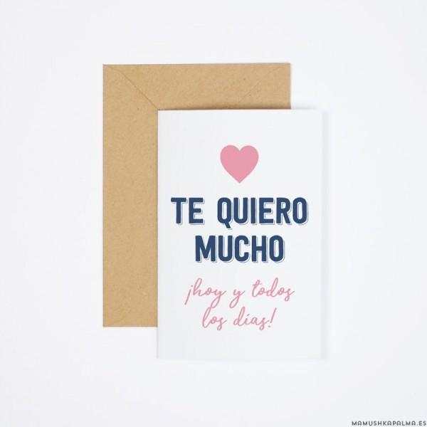 "Postal ""Te quiero mucho"""