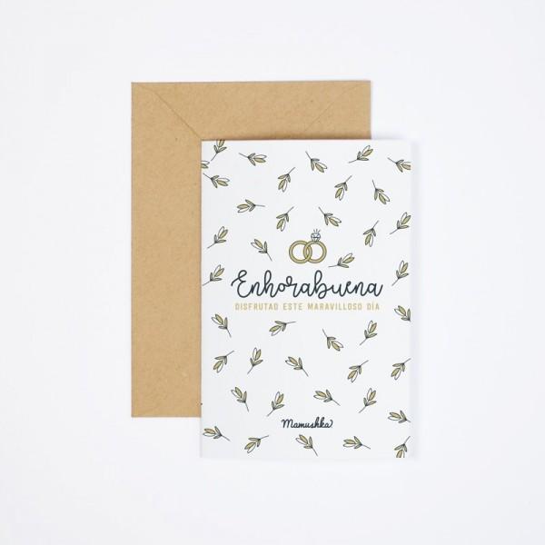 "Postal ""Enhorabuena boda"""