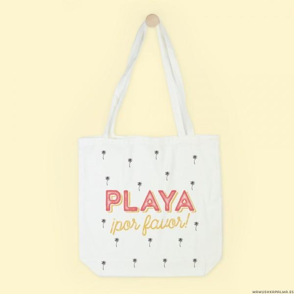 "Bolsa ""Playa por favor"""