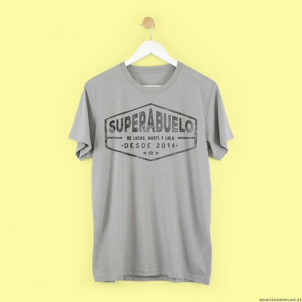 """Camiseta personalizada """"Superabuelo"""""""
