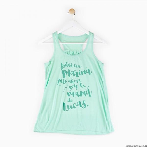 """Camiseta """"Ahora soy la mamá..."""""""