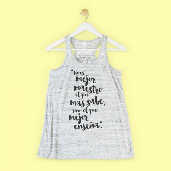 """Camiseta """"Mejor maestro"""""""