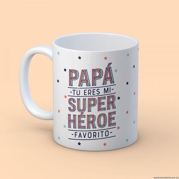 """Taza """"Papá no hay más que dos"""""""