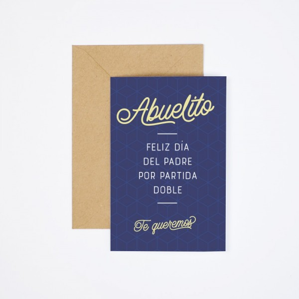 """Postal """"Abuelito, feliz Día del Padre"""""""