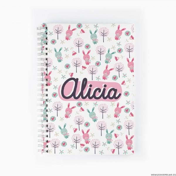 Cuaderno Conejitos rosas