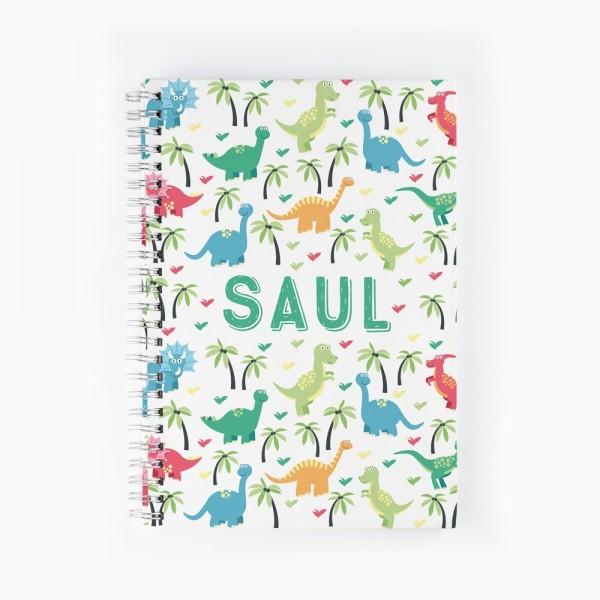 Cuaderno Dinosaurios de colores