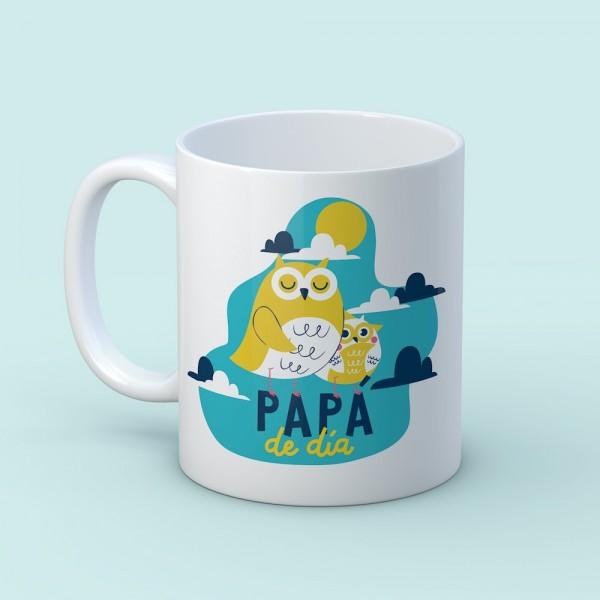 """Taza """"Papá de día"""""""