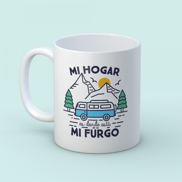"Taza ""Mi hogar furgo"""
