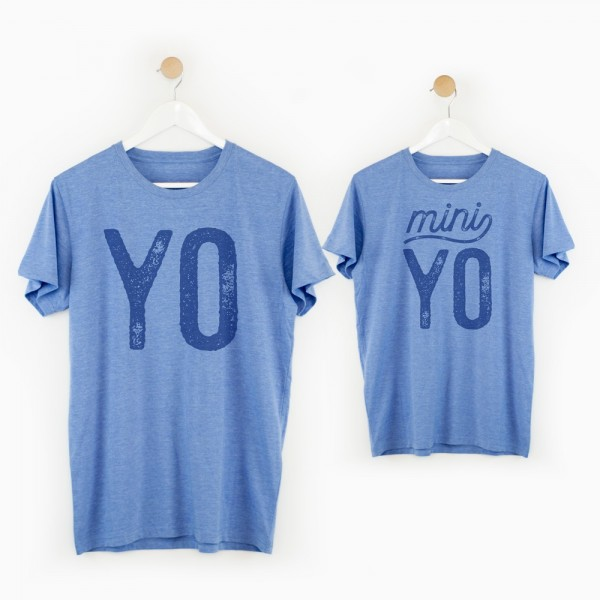 "Pack camisetas ""yo - mini yo"""