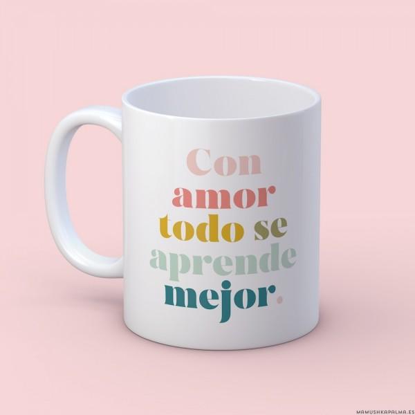 """Taza """"Con amor"""""""