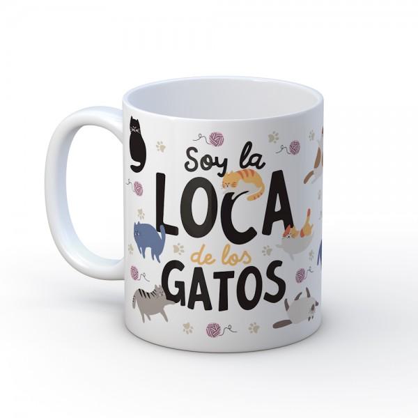"""Taza """"Loca de los gatos"""""""