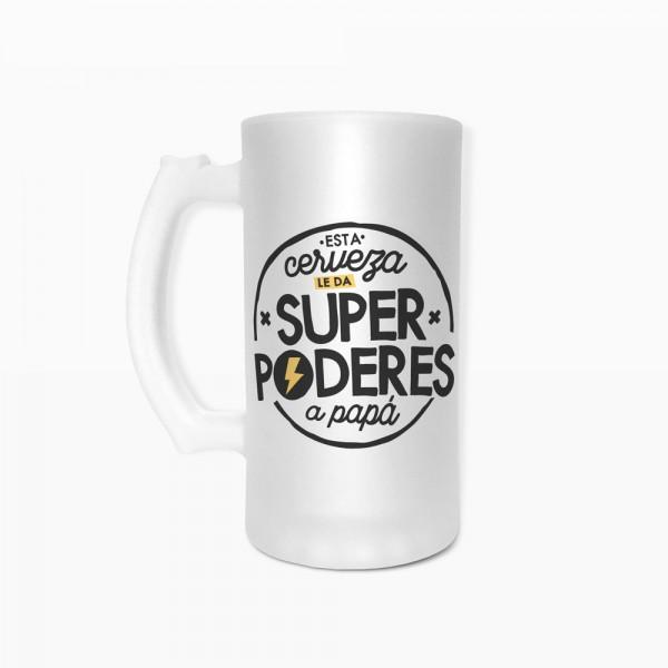 """Jarra de cerveza """"Superpoderes"""""""