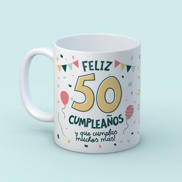 "Taza ""Feliz cumpleaños"""