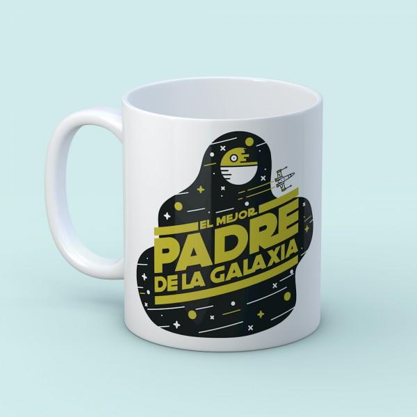 """Taza """"Mejor Padre de la galaxia"""""""