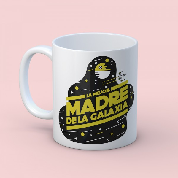 "Taza ""Mejor Madre de la galaxia"""