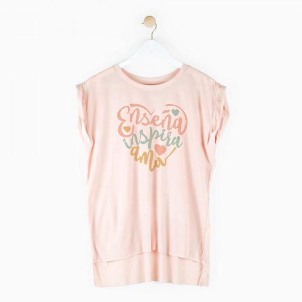 "Camiseta ""Enseña inspira ama"""