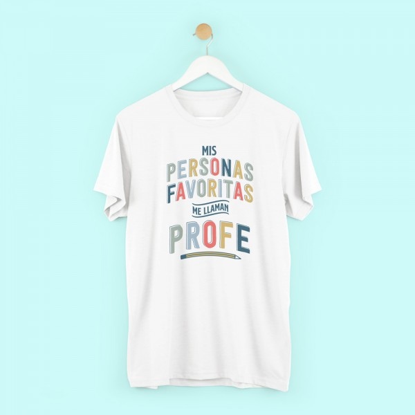 "Camiseta profe chico ""Mis personas favoritas"""