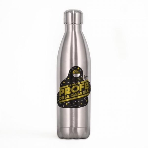 """Botella acero inox """"Mejor profe de la galaxia"""""""