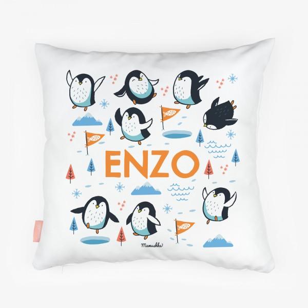 Cojín Pingüinos