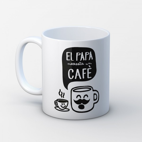 "Tassa ""El papa necessita un cafè"""