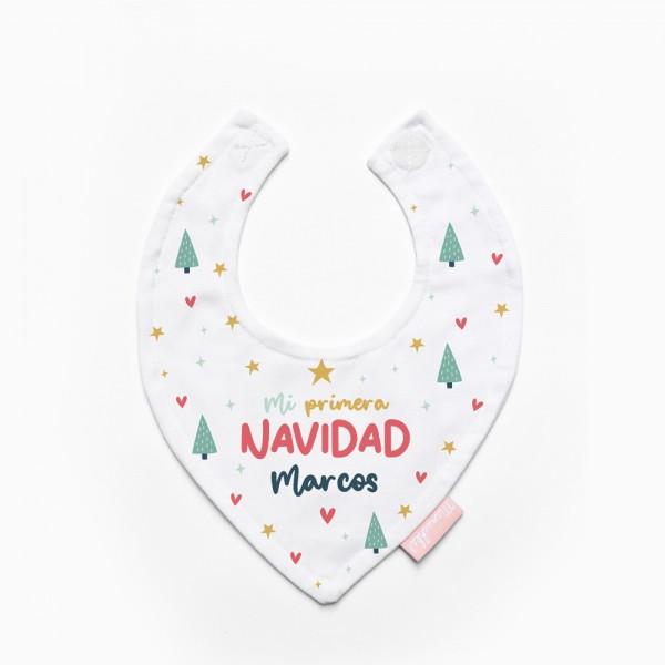"""Babero """"Mi primera Navidad"""""""