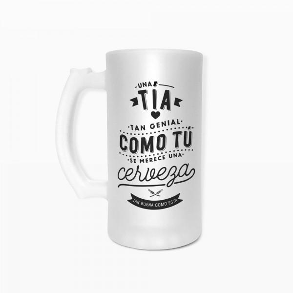"""Jarra de cerveza """"Tía"""""""