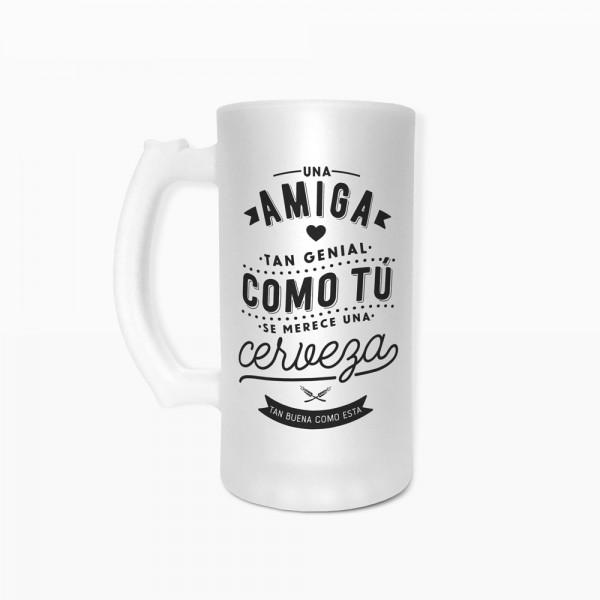 """Jarra de cerveza """"Amiga"""""""