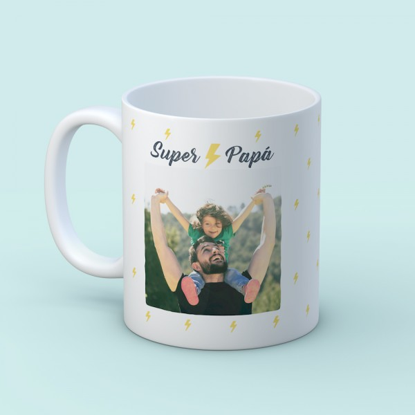 "Taza ""Super papá foto"""