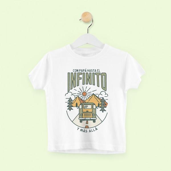 """Camiseta """"Con papá al infinto y más allá - niño"""""""