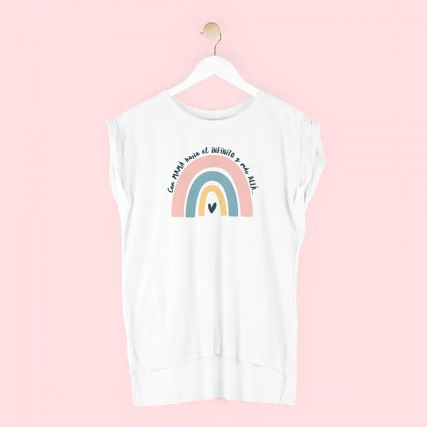 """Camiseta """"Con mamá hasta el infinito y más allá"""""""