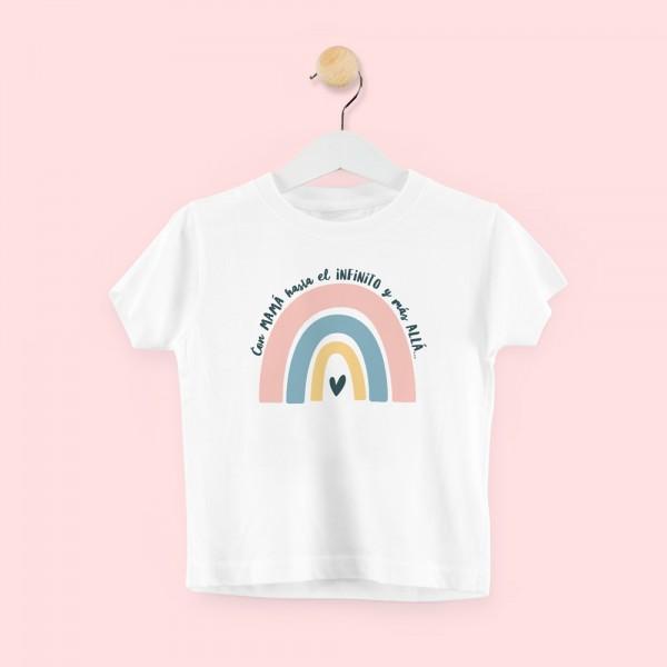 """Camiseta """"Con mamá al infinto y más allá - niño"""""""