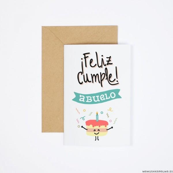 """Postal """"Feliz cumple abuelo"""""""