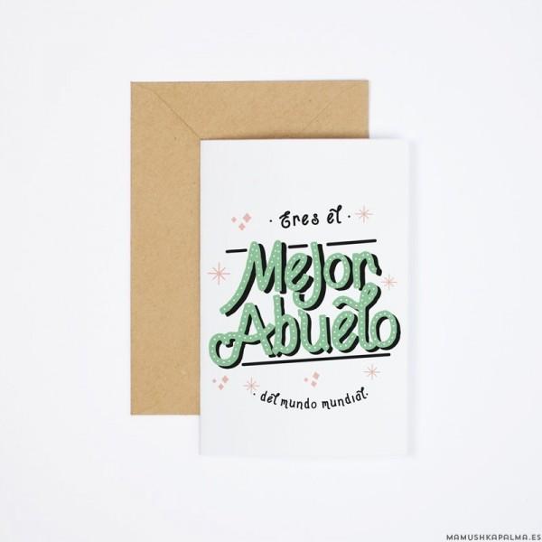 "Postal ""Mejor abuelo del mundo"""