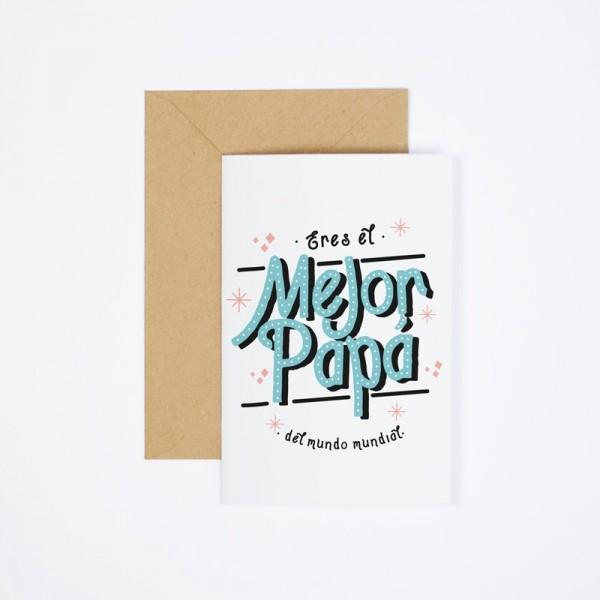"""Postal """"Mejor papá del mundo"""""""