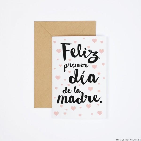 """7ef797ef44 Postal """"Feliz primer Día de la Madre"""""""