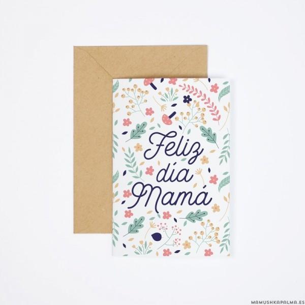 "Postal ""Feliz día mamá"""
