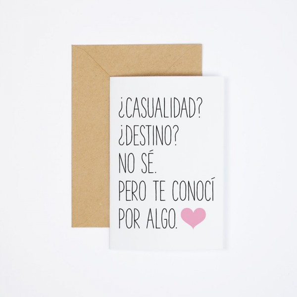 "Postal ""Casualidad"""