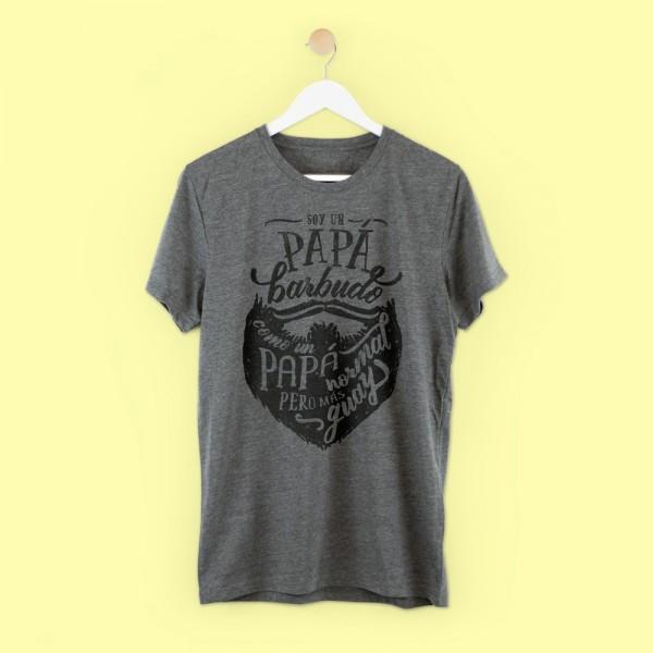 """Camiseta """"Papá barbudo"""""""