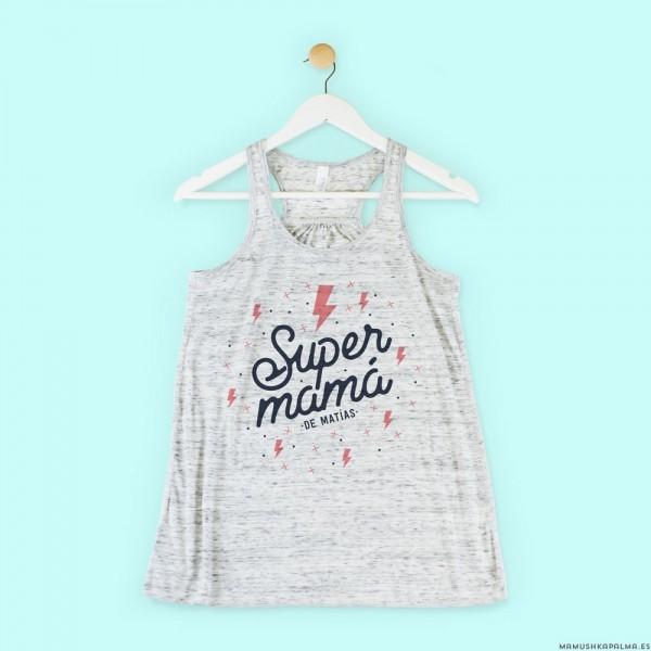 "Camiseta personalizada ""Supermamá rayos"""